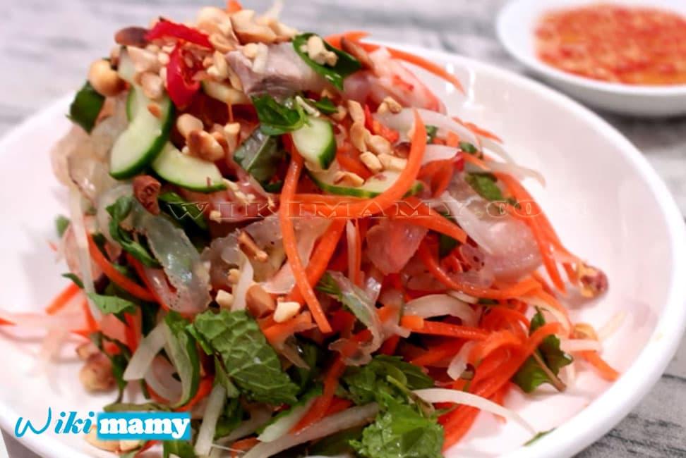 Hướng dẫn nấu món gỏi sứa tôm thịt